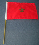 Morocco Country Hand Flag - Medium (stitched).